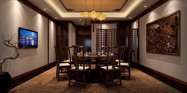 中式餐厅设计案例(湖北)
