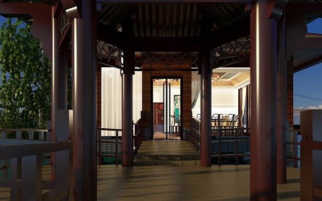 义友山庄中式餐厅设计案例
