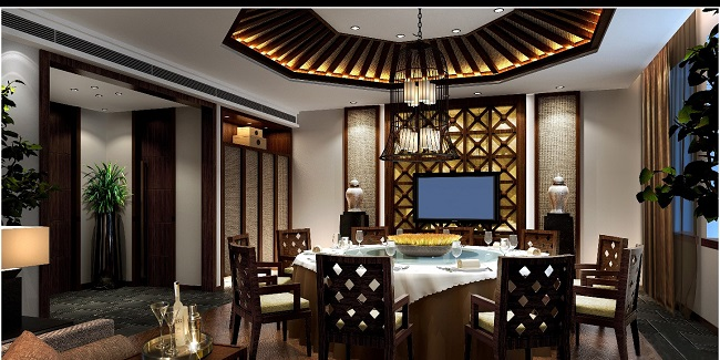 新中式餐厅设计方案(长三角)