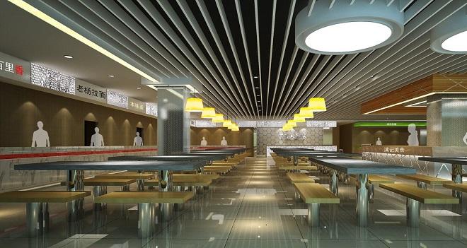 上海餐饮设计师美食广场效果图案例
